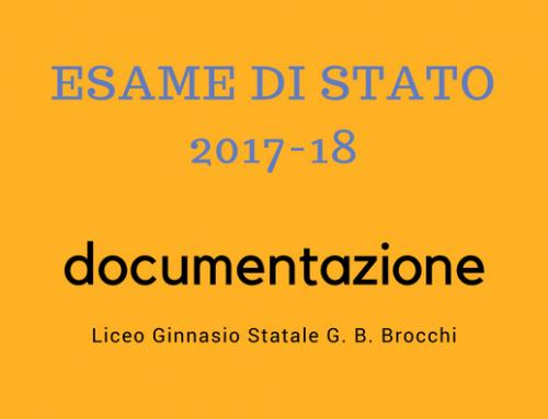 Esame di Stato 2017-18: documentazione