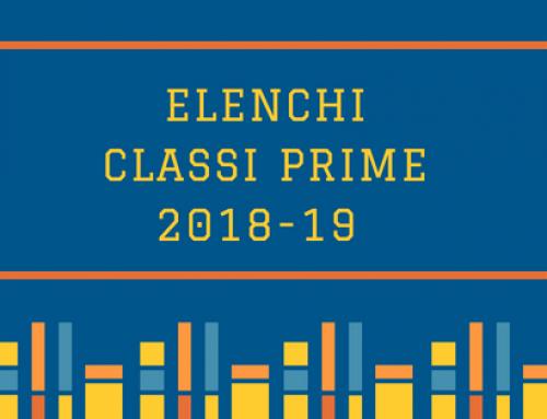Elenchi classi prime 2018-19