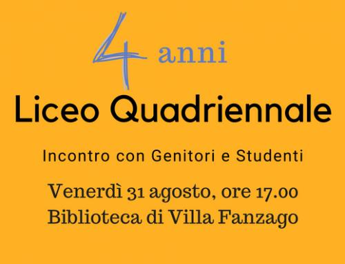 Liceo Quadriennale – Incontro con Genitori e Studenti