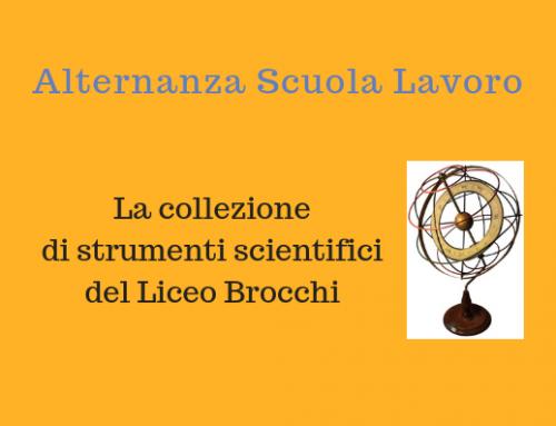 La collezione di strumenti scientifici: un progetto di Alternanza Scuola Lavoro
