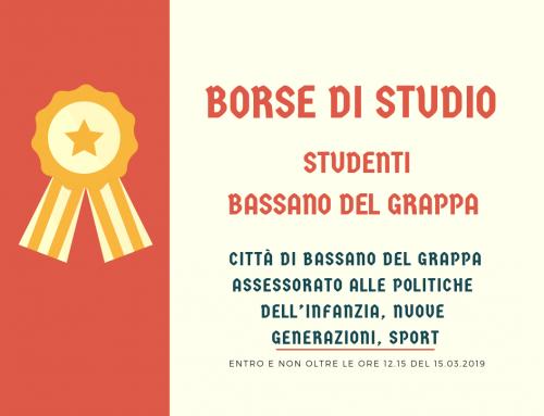 Borse di Studio per Studenti di Bassano del Grappa